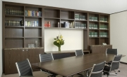 Corporate Office – Boardroom Bookshelf Display